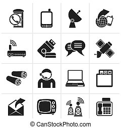 Communication and connection icons