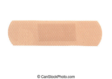 bandaid - macro of a skin toned bandage isolated on white...