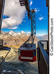 Cable car to Matterhorn in Zermatt - Cable car to Matterhorn...
