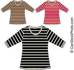 girls stripe tops