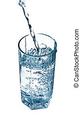 Glass of water - A glass of fresh clear water