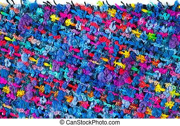 fWoven fabrics of coarse thread. tissue, textile, cloth,...