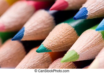 Multicolor pencils - Close-up image of multicolor pencils...