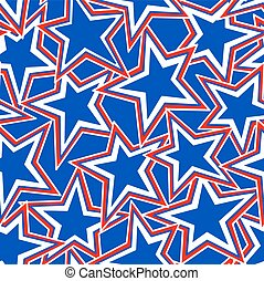 USA Star abstract illustration in a seamless pattern