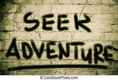 Seek Adventure Concept