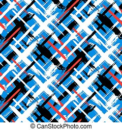 Pattern with stripes and crosses - Vector seamless bold...