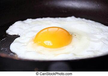 Bullseye Egg - Food photography closeup photo of bullseye...