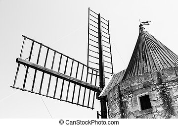 Old mill - Provence region, France Fontvieille old mill,...