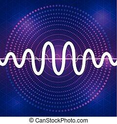 sound and audio waveform design background