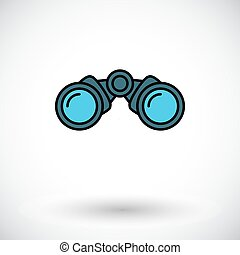 Binoculars. Flat icon on the white background for web and...