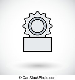Canned Flat icon on the white background for web and mobile...