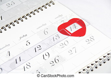 Valentines Day calendar date - Valentines Day signed by...