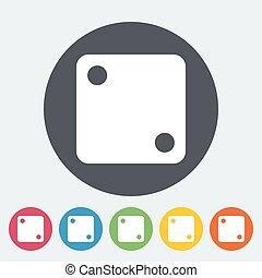Craps icon - Craps. Single flat icon on the circle button....
