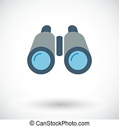 Binoculars Flat icon for mobile and web applications Vector...