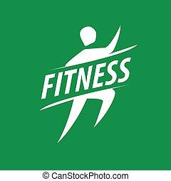 vector running man logo for fitness club