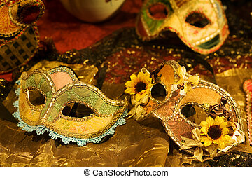 Venetian masks - Handcrafted Venetian carnival mask on...