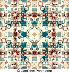 lines and circles in a retro style geometric background...