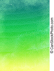 Green grunge watercolor background - illustration drawing of...