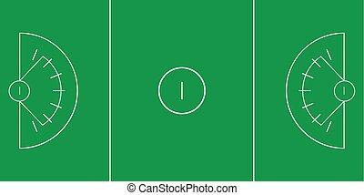 Lacrosse field - Sample of lacrosse field in a simple...