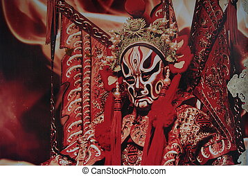 Drama Mask - Drama mask, Chinese traditional culture.