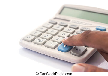 Realistic electronic calculater isolated - Realistic...