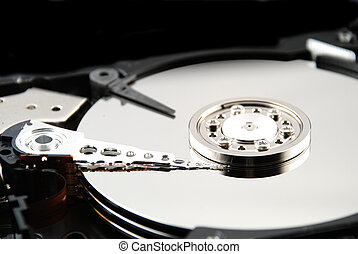Hard drive interior - Stock pictures of the interior of a...