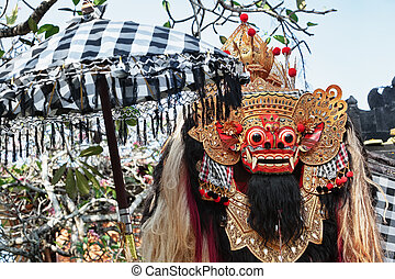 protector, espíritu, y, Bali, isla, símbolo,...