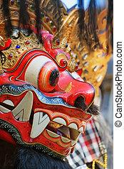 barong, protector,  Bali, isla, símbolo,  -, espíritu