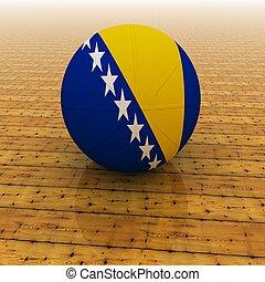 Bosnia Herzegovina basketball - Bosnia Herzegovina flag on...