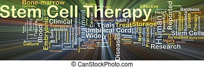 Stem cell therapy background concept glowing