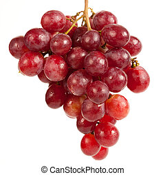 Cluster of delicious grapes - Close up of a cluster of red...