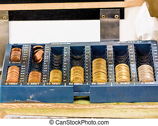 change in a cash register