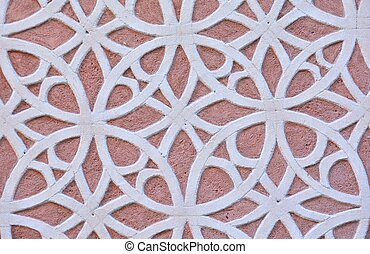Latticework - Design and drawing of a latticework in a wall...