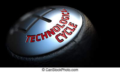 Technological Cycle on Cars Shift Knob - Technological Cycle...