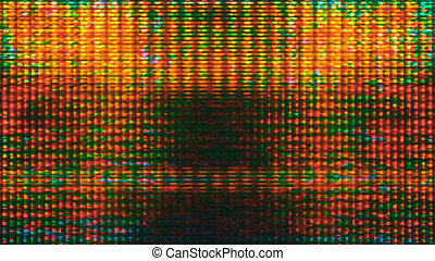 Futuristic Screen Display Pixels - Futuristic, video screen...