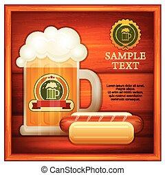 Glass mug of beer