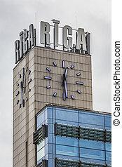 Clock tower in Riga, Latvia