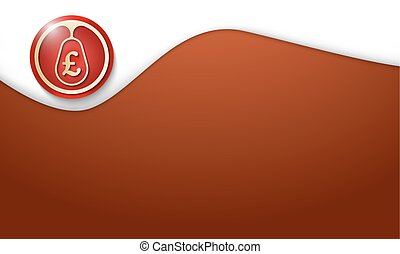 abstract background and pound sterling symbol