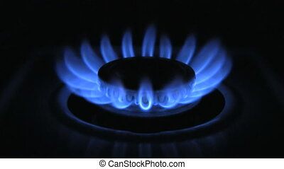 Gas Burner On Stove