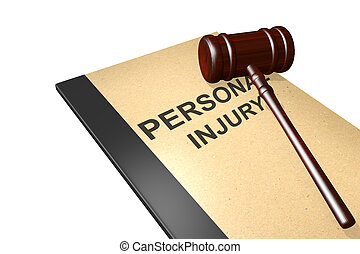 Personal injury concept - Personal injury titled on legal...
