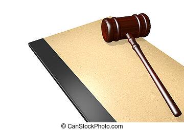 Legal documents concept