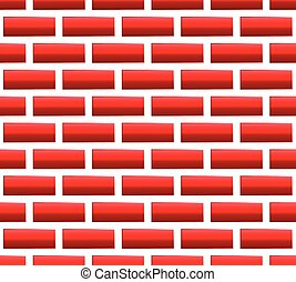 Red brick seamless pattern, background Vector graphics