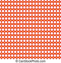 Red yellow dotted, polka dot background Vector illustration...
