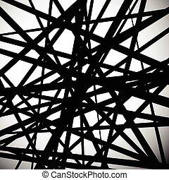 derecho, Extracto, líneas, randomly, colocado, vector,...