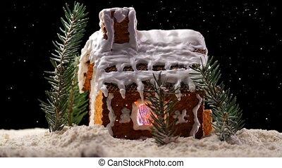 Christmas Gingerbread House - A Rotating Christmas...