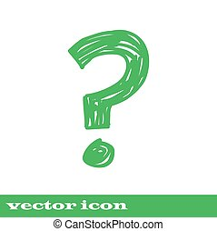 question mark icon ask sign,  green icon