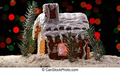 Gingerbread House - A Rotating Gingerbread House with...