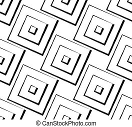 Square pattern series. Seamlessly repeatable vector illustration.