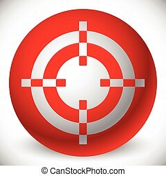Red target mark, crosshair, reticle graphics Vector