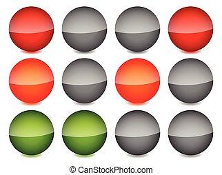 Traffic lights on white. Traffic lights, traffic lamps vector illustration.